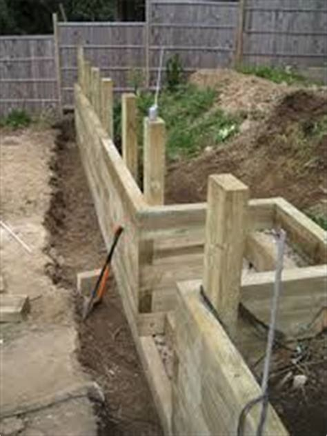 How To Build A Retaining Wall With Sleepers by 25 Best Ideas About Sleeper Retaining Wall On