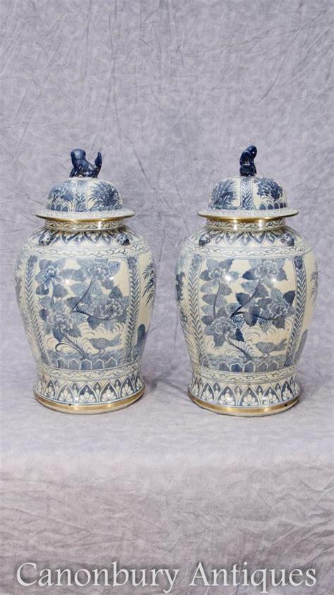 weisse vasen porzellan paar chinesische blaue und wei 223 e porzellan ming ingwer
