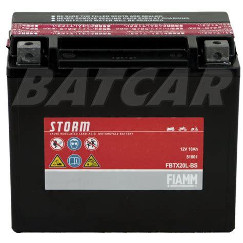 Motorradbatterie 12v 18ah by Agm Motorradbatterie Fiamm Fbtx20l Bs 12v 18ah 51801