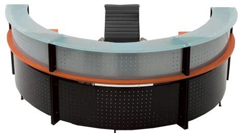 Half Round Glass Top Reception Desk Half Reception Desk