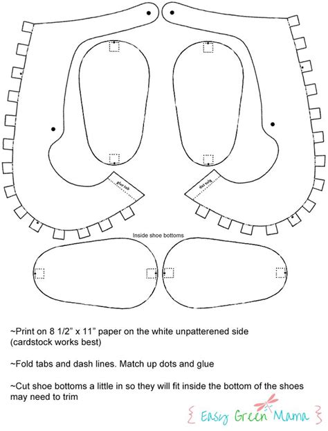 templates for shoes 42 best images about paper shoes on trainers