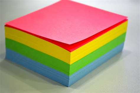 color papers yellow green and blue sticky notes 183 free stock photo