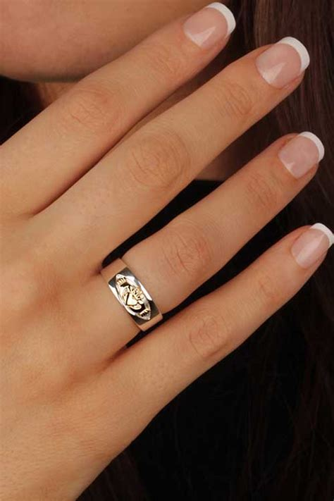 gold and silver ls ladies claddagh ring ls rs770