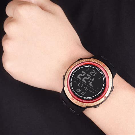 Jam Tangan Sport Pria Digital synoke jam tangan digital sporty pria 9698 black