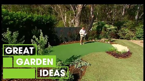 diy putting green gardening great home