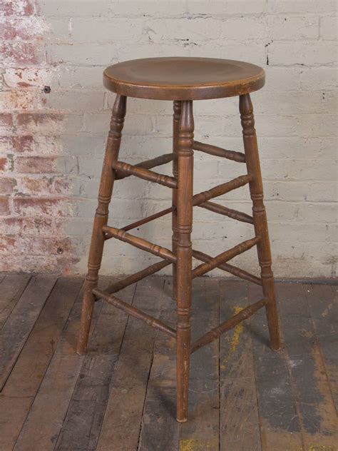 Vintage Wooden Stool by Vintage Wooden Bar Stool For Sale At 1stdibs