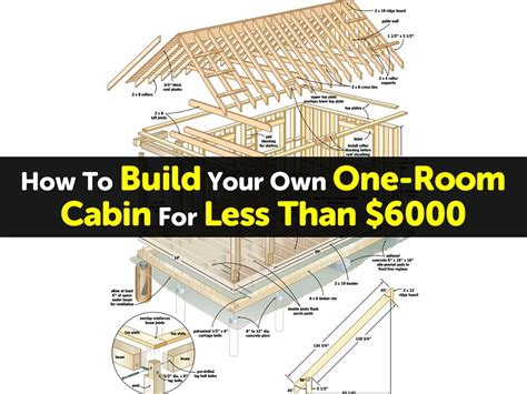 build your own apartment how to build your own one room cabin for less than 6000
