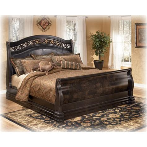 king sleigh bedroom set b327 78 ashley furniture suzannah bedroom king sleigh bed
