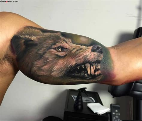 3d wolf tattoo 3d arm tattoos