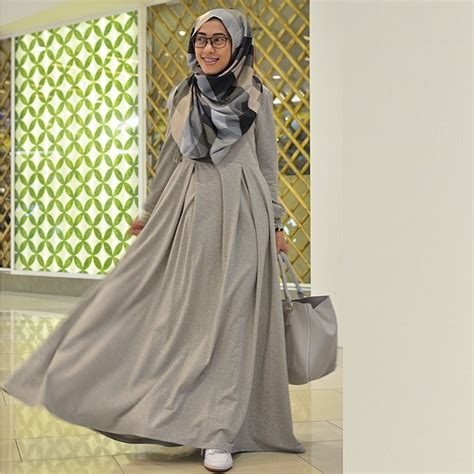 Gamis Syahrini Dress With Shawl 21 rubber cuff sleeve neck jubah dress including shawl