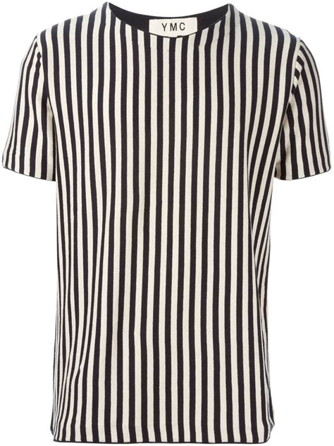 Navy Stripe Vertical Shirt lyst ymc vertical stripes t shirt in blue for