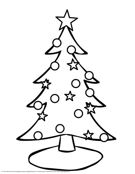 Christmas Tree Coloring Pages  GetColoringPagescom sketch template