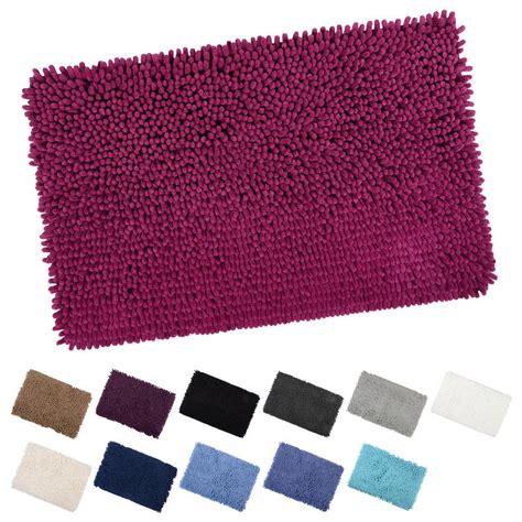 Toilet Rug Mat by Shaggy Microfibre Bathroom Shower Bath Mat Rug Non Slip