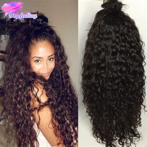 long black curly human hair wig loose deep curly lace wigs 7a malaysian deep curly human