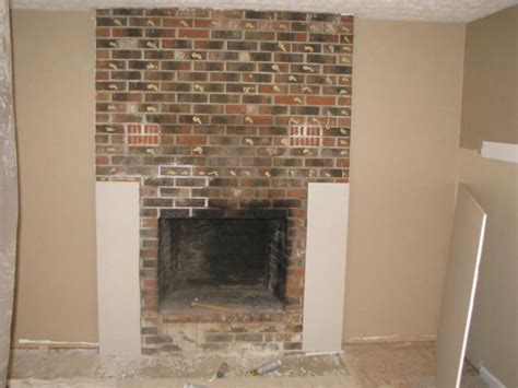 how to cover a brick fireplace with drywall brick fireplace before and after homedesignpictures