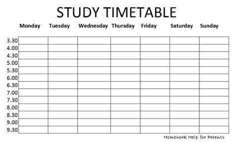 printable revision planner exam timetable png 931 215 570 classroom pinterest study