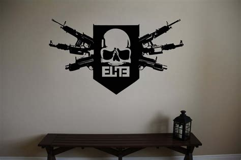 Fathead Wall Sticker large call of duty mw3 skull logo ps3 vinyl wall sticker