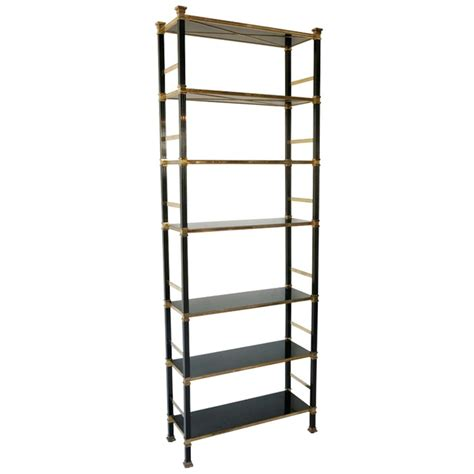 Regency Style Brass And Black Lacquer Bookshelves At 1stdibs Black Lacquer Bookshelves
