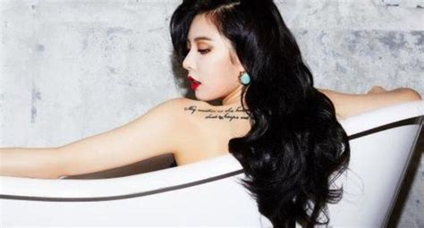 hyuna tattoo my favourite idol tattoos k pop amino