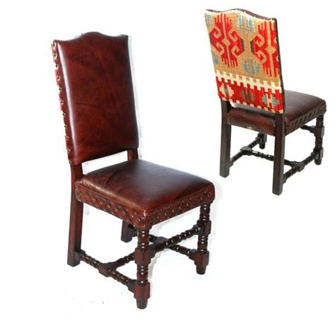 kilim leather side chair kilim side chair kilim