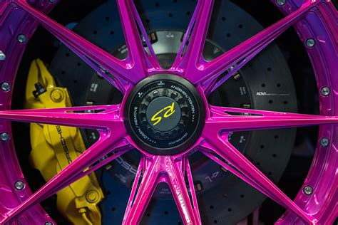 ultraviolet porsche  gt rs poses  pink wheels carscoops