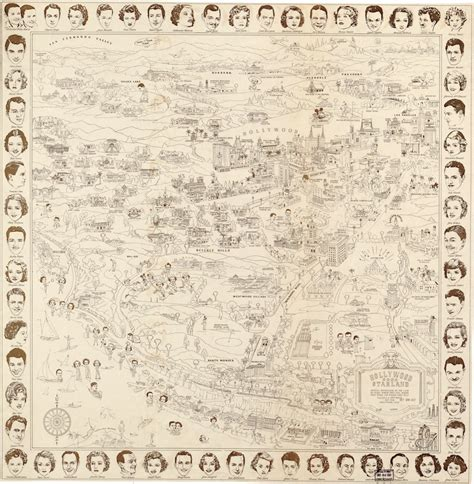 hollywood celebrities map star map 1937 hollywood map of stars homes