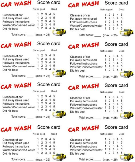 car wash checklist template webelos handyman car wash checklist scouts