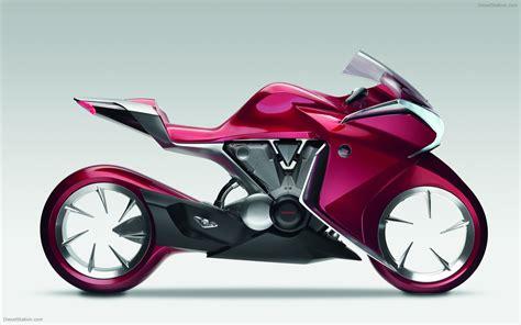 Honda V4 by Honda V4 Concept 2009 Widescreen Bike Wallpaper 03