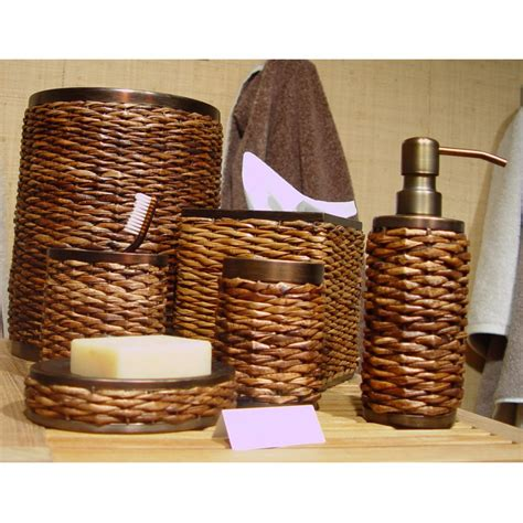 rattan bathroom accessories beautiful wicker bathroom accessories 5 retreat