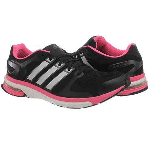 adidas adistar questar boost s running shoes black pink black orange new ebay