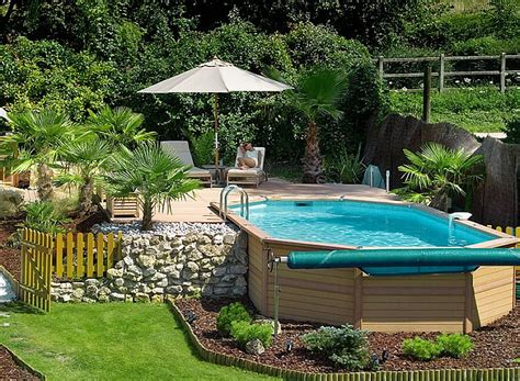 Awesome Backyard Pools Semi Above Ground Pool Designs Studio Design Gallery Best Design