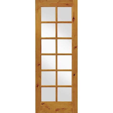 24 X 72 Interior Door Krosswood Doors 24 In X 96 In Krosswood Knotty Alder 12 Lite Tempered Glass Solid Left