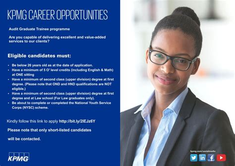 Kpmg Starting Position With Mba by Kpmg Audit Graduate Trainee Programme 2018 For