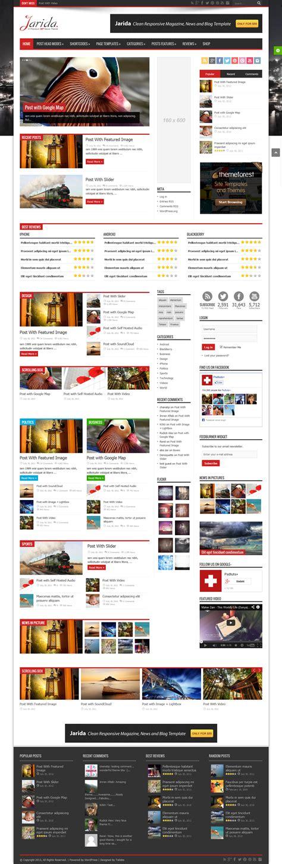 themes wordpress jarida jarida wordpress blog theme