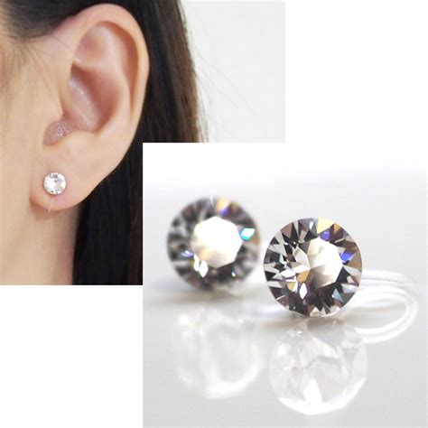 On Clip swarovski invisible clip on earrings non piered