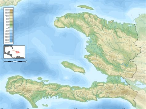 physical map of haiti file haiti blank map with topography png wikimedia commons