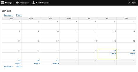 calendar displays results days