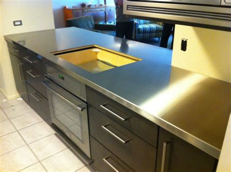 Stainless Steel Countertop Installation by Custom Metal Home Stainless Steel Countertops