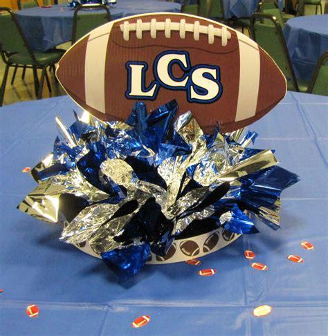 football banquet centerpieces event decorating company lakeland christian school football kickoff 2010