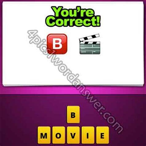 film clapper board emoji guess the emoji b and movie clapperboard 4 pics 1 word