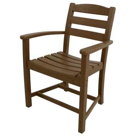 Polywood Dining Chairs Polywood Traditional Garden Sand Patio Dining Arm Chair