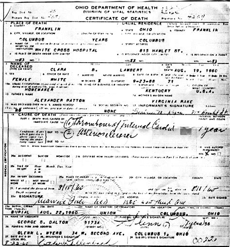 Franklin County Marriage License Records Nazdar Digital Genealogy Archives Relatives Of The Eicher Family