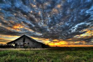 Oklahoma Flowers - sunset at the old barn by mbryan777 photo weather
