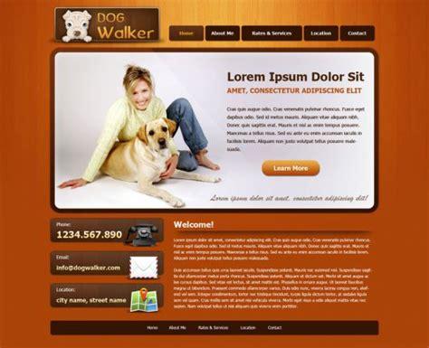 puppy websites walking website template free walker templates phpjabbers
