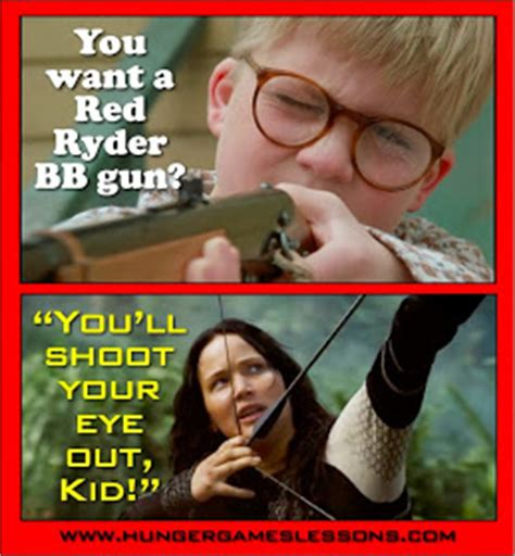 Christmas Story Meme - hunger games lessons quot a christmas story quot quot i