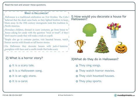 preguntas frecuentes en ingles con respuesta ficha de contestar preguntas sobre halloween para primaria