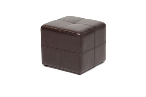 small brown ottoman nox brown leather small inexpensive cube ottoman