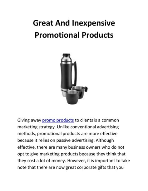 Inexpensive Promotional Giveaways - great and inexpensive promotional products