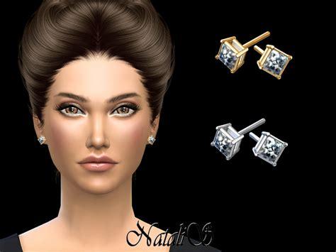 sims 4 mens earrings natalis princess cut stud earrings
