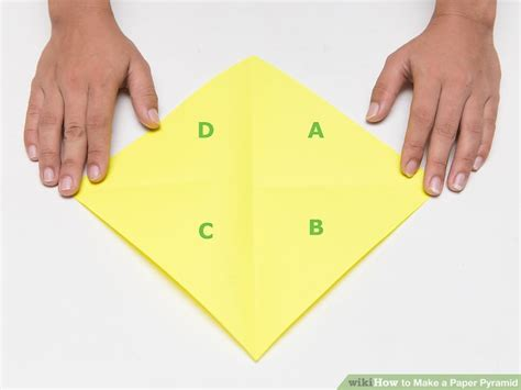 How To Make A Pyramid Out Of Paper - how to make a paper pyramid 15 steps with pictures